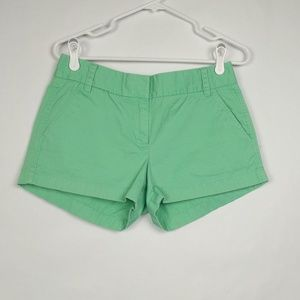 J Crew Mint Green Broken in Chino Shorts Cotton